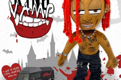 playboi carti plush, custom plushie manufacturer, 86fashion,red vampire