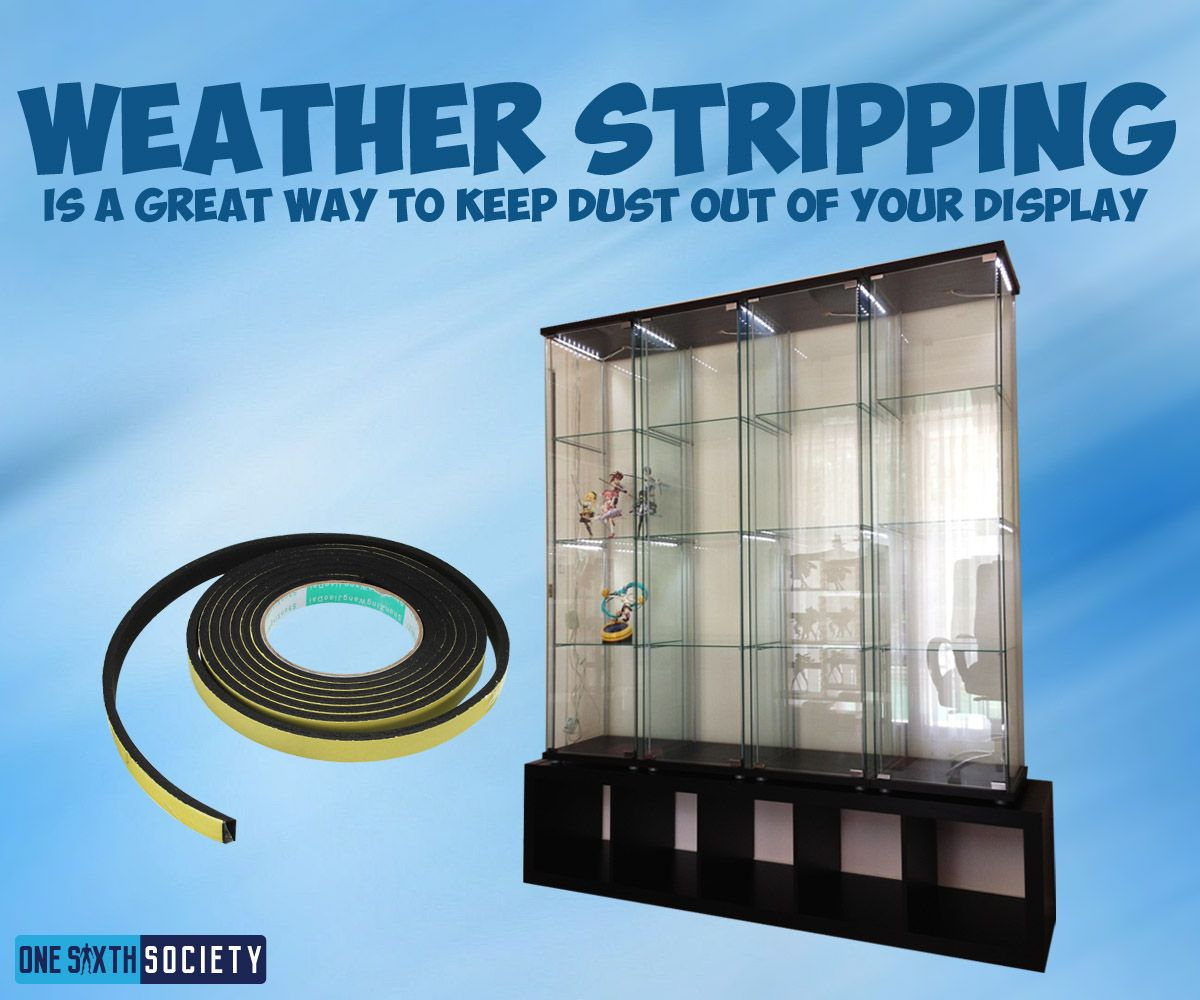 Keep Out The Dust With Weather Stripping For Ikea Detolf Displays