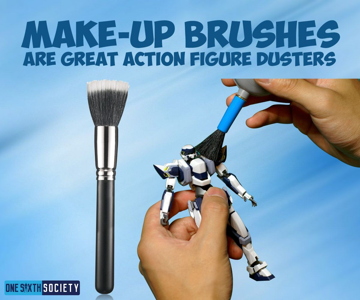 Make-Up Brushes are Great For Dusting Action Figures