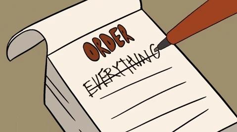 Cartoon Order Form