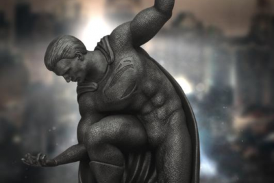 Superman Resin Statue, custom resin figure 86fashion